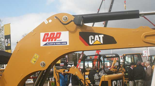 Evidence of Finning's new alliance with GAP Group was visible on the stand. The Glasgow-based plant and tool hirer recently placed an order for 90 Caterpillar mini excavators.