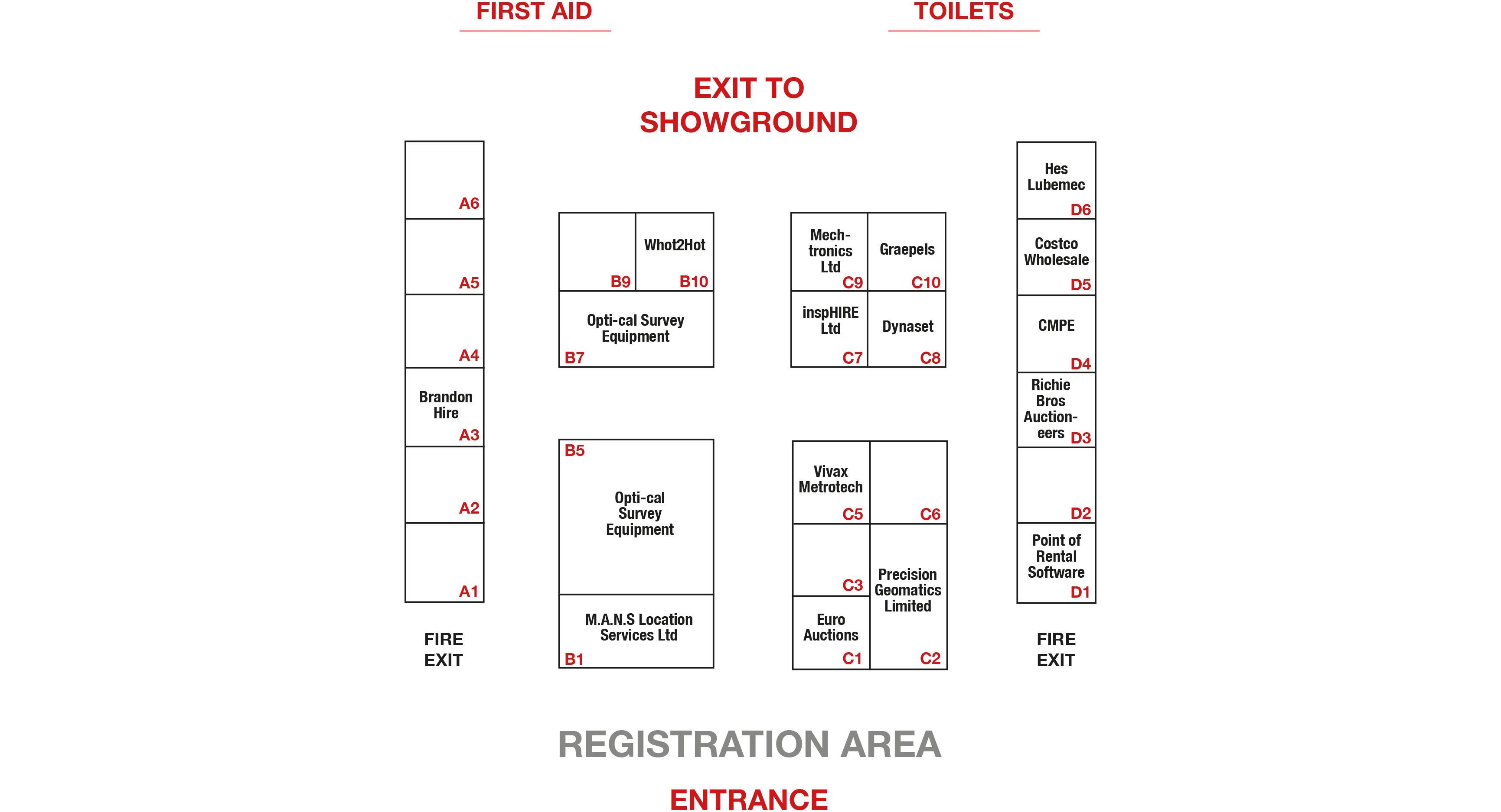 Indoor sitemap