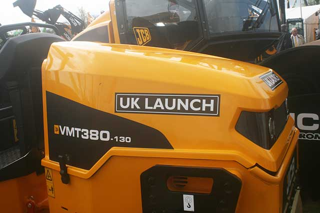 ON A ROLL: The new Vibromax compactor made its first UK appearance.