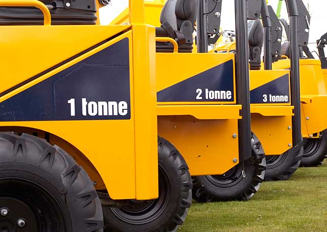 TAKE YOUR PICK: A line up of Thwaites dumpers.