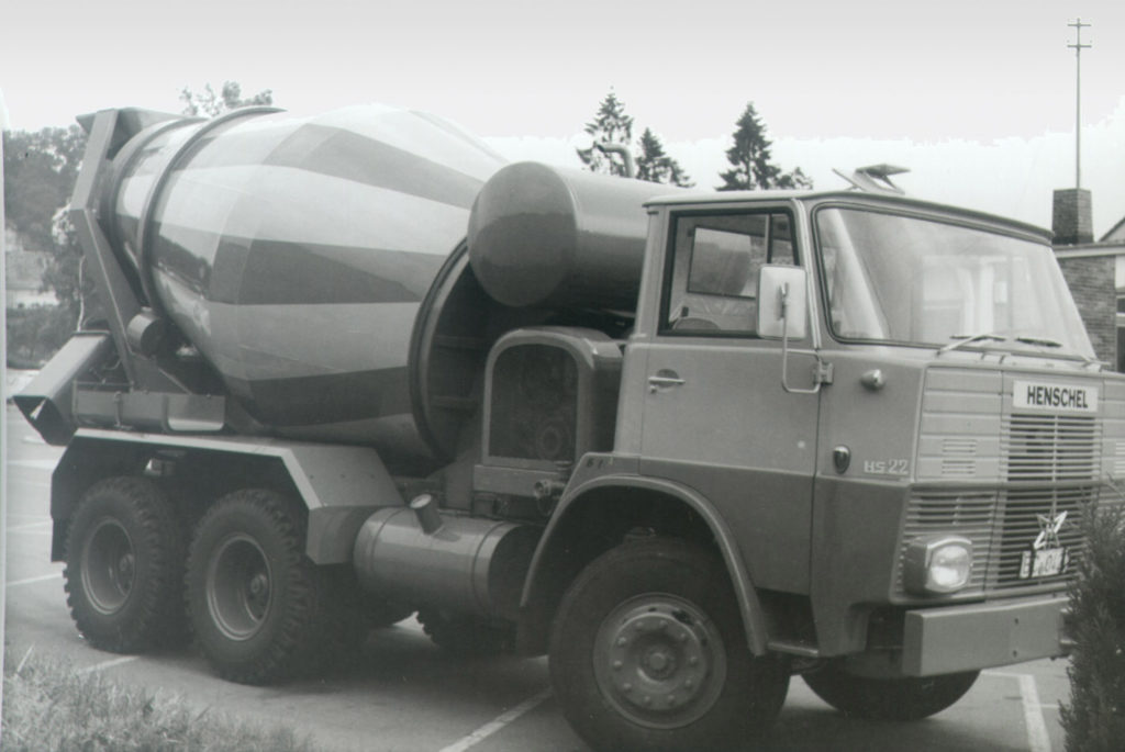 Liebherr's first truck mixer in 1967